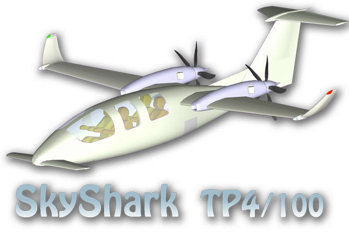 SkySHar TP4-100 with TP100 turboprop propulsuin system