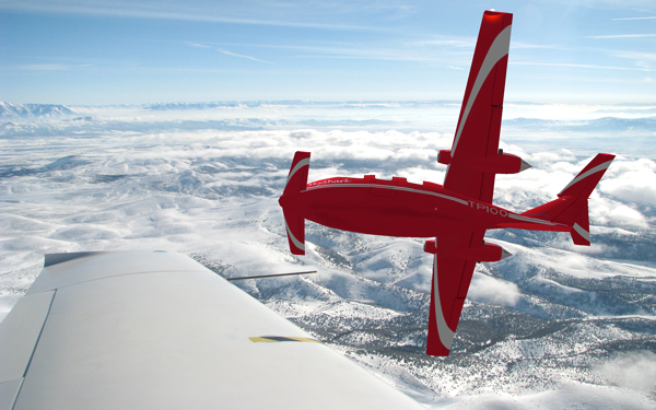 SkyShark TP100 over Utah  winter skies